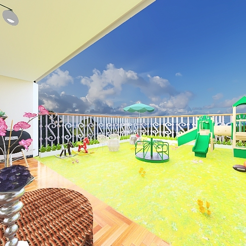 Augusto y Rosa- Patio Interior Design Render