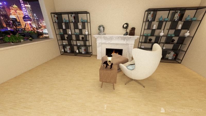 1 Bed 1 Bath Appt Interior Design Render