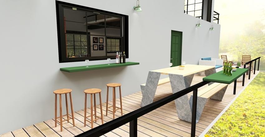 Chácara das Palmeiras Interior Design Render