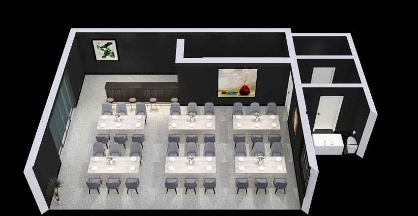 restauracja Interior Design Render