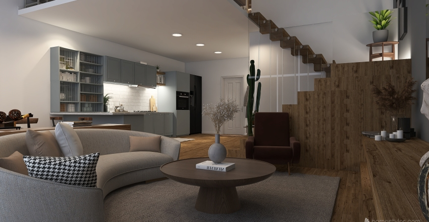 Cozy Loft Interior Design Render