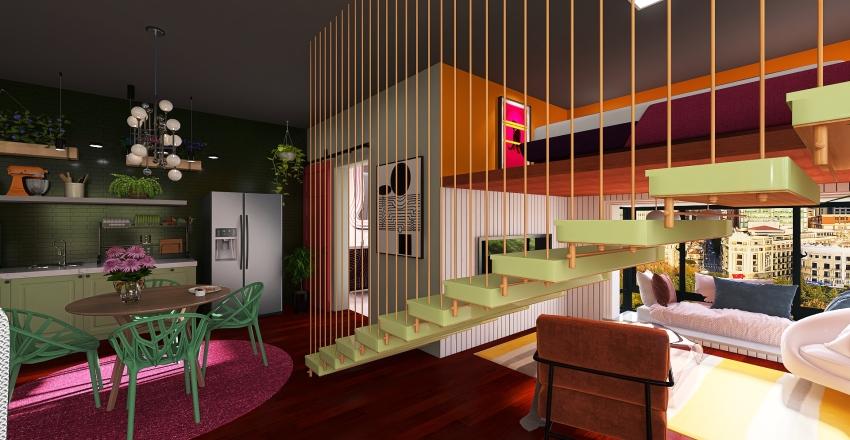Kitnet #03 Interior Design Render