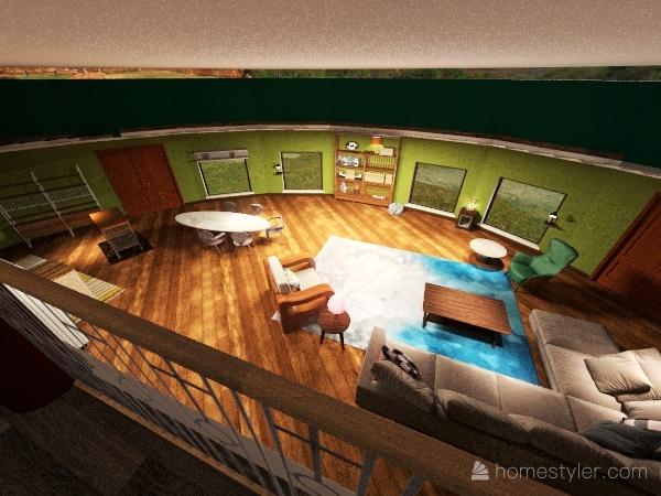 round tiramisu Interior Design Render