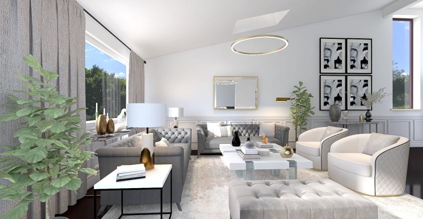 Play on Gray | Wasserman Living Room Interior Design Render