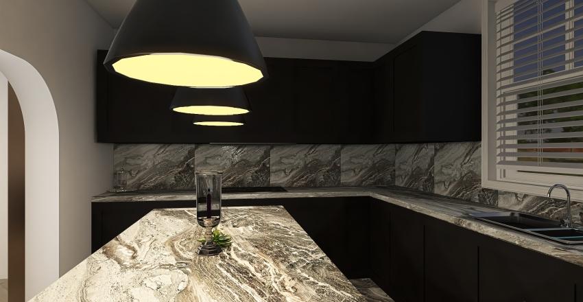 Monochrome Interior Design Render