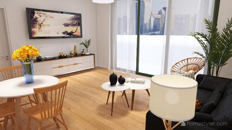 Cosy Flat Interior Design Render