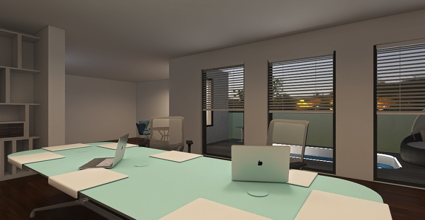 Small architectural studio, office design Interior Design Render