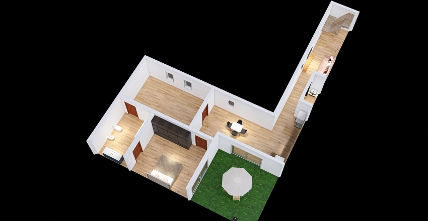 Proyecto Curapaligue Interior Design Render