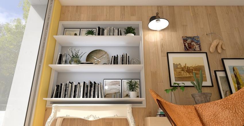 Backyard Office Pod Interior Design Render