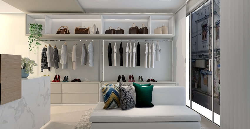 LOJA DE ROUPA Interior Design Render