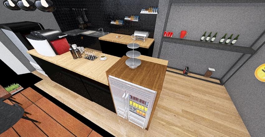 Conteiner Interior Design Render