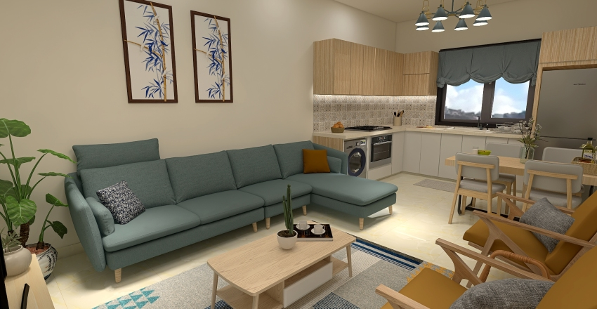 Abed Apartment Interior Design Render