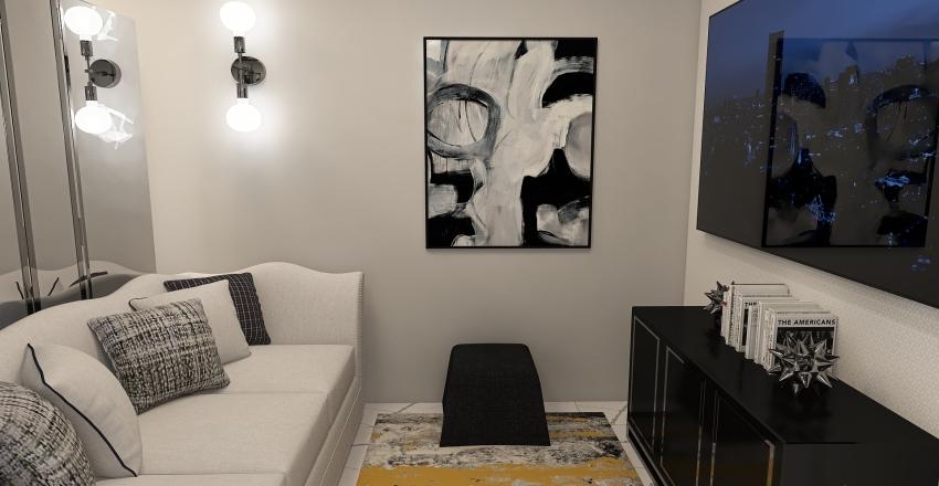 Tiny Luxury Apartment Interior Design Render