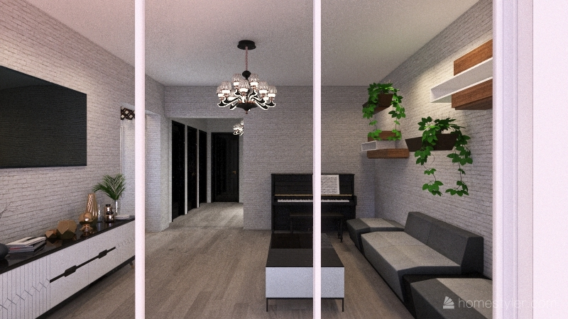 3room flat Interior Design Render