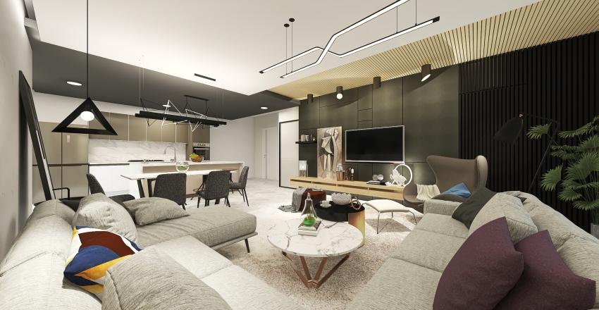 ONE BEDROOM MINIMALIST APARTMENT Interior Design Render