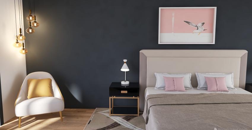 Bed Room Re-make Interior Design Render