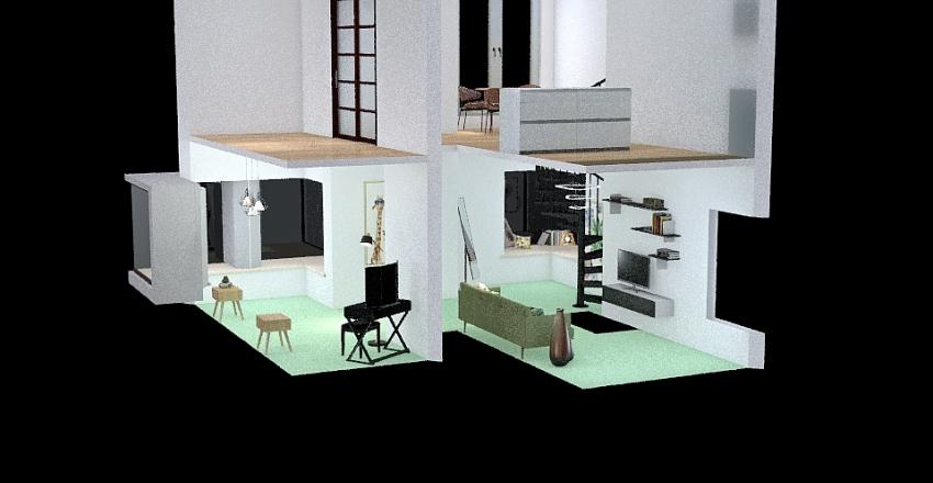 v2_Green room Interior Design Render