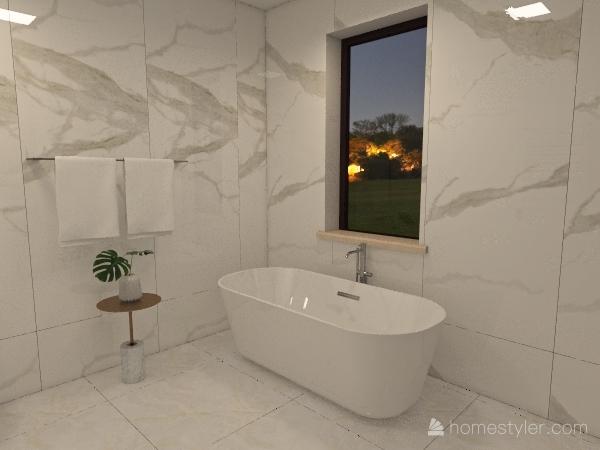 Kwiatowa ząbki Interior Design Render