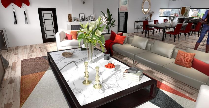 casa familiar tipo playera Interior Design Render