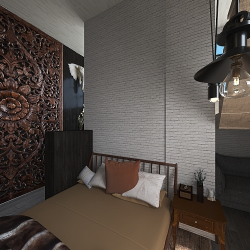 3 Story Town House Interior Design Render
