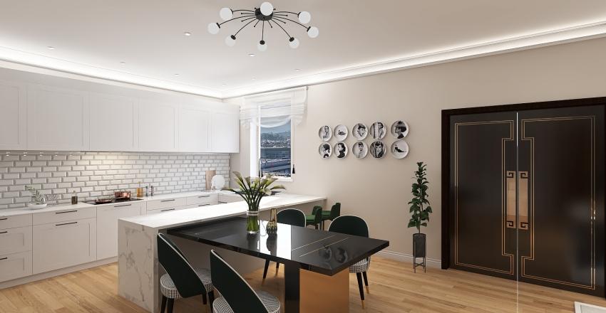 Italian Apartment Interior Design Render