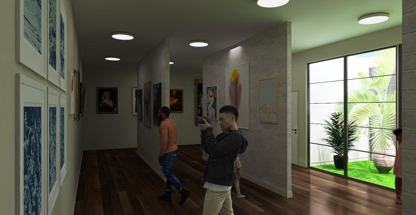 The Artistic Museum Interior Design Render