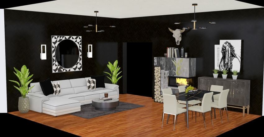 MODERN CONTEMPORARY F.I. PROJECT Interior Design Render