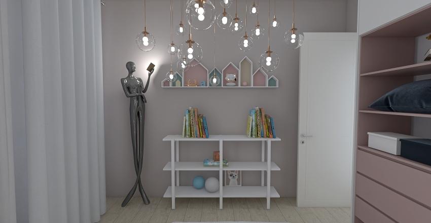 Scandinavian suite Interior Design Render