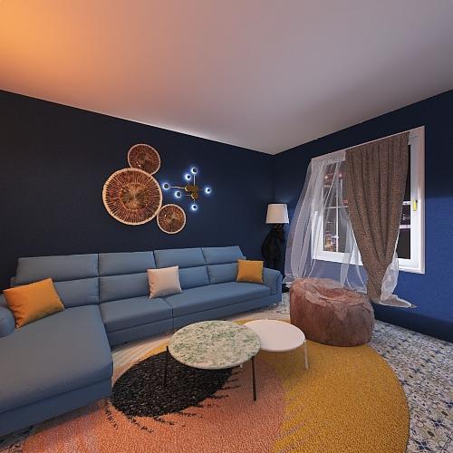 drawing room Interior Design Render
