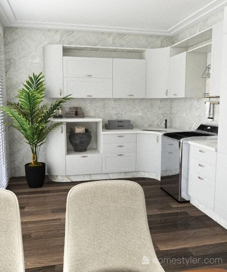 Planta Agua verde Interior Design Render