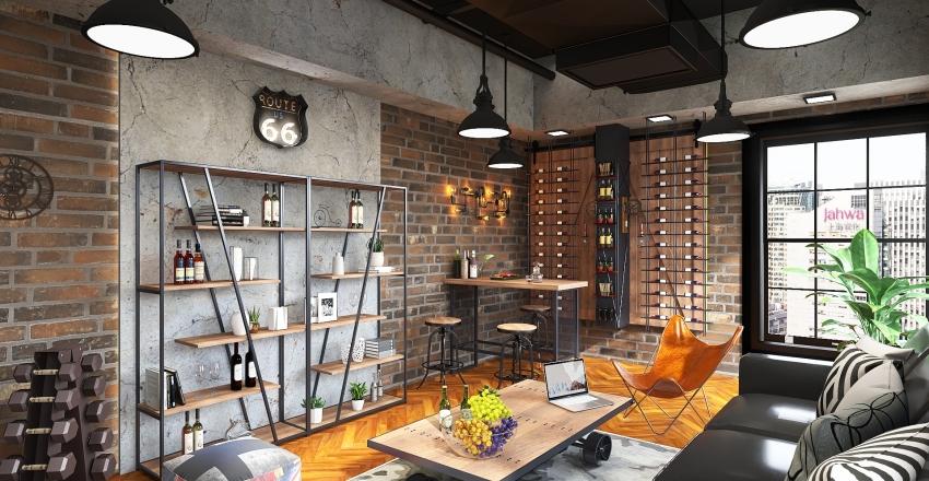 INDUSTRIAL STYLE INTERIOR DESIGN Interior Design Render