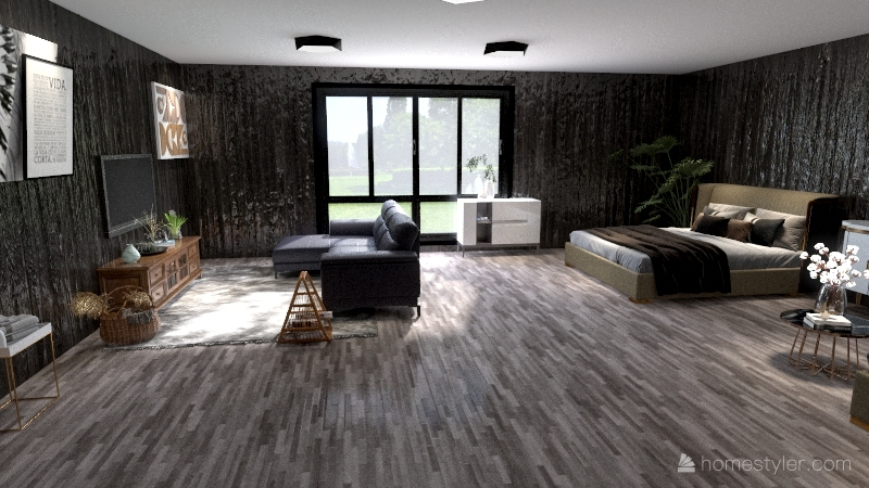 two story apartment Interior Design Render