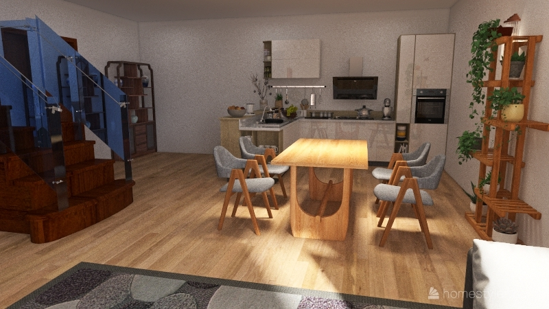 Normal house. Interior Design Render
