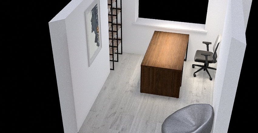 Pracovna Interior Design Render