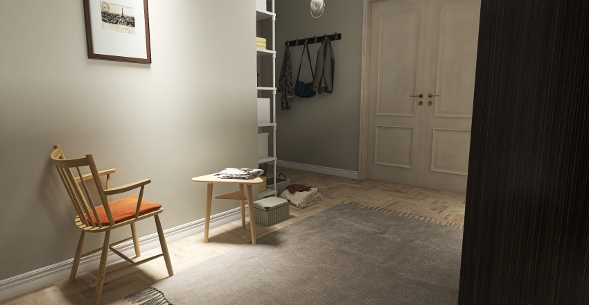 Small and cozy Interior Design Render
