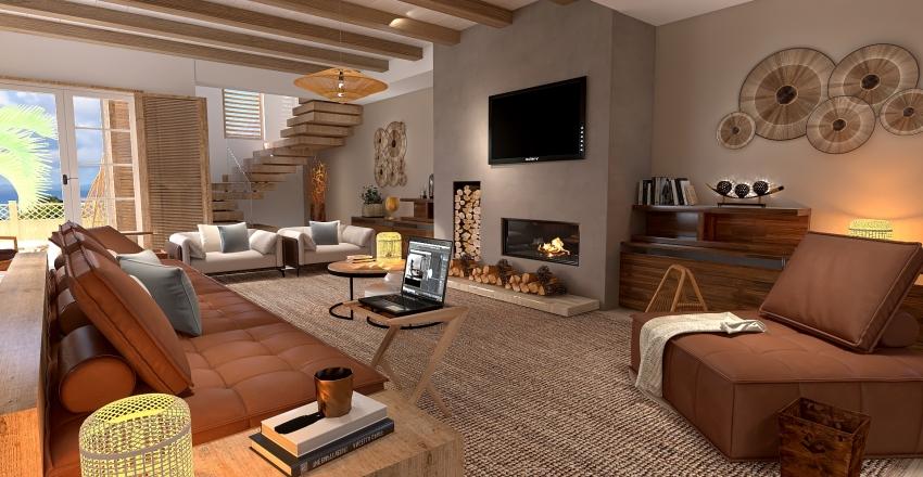 Casa junto al lago Interior Design Render