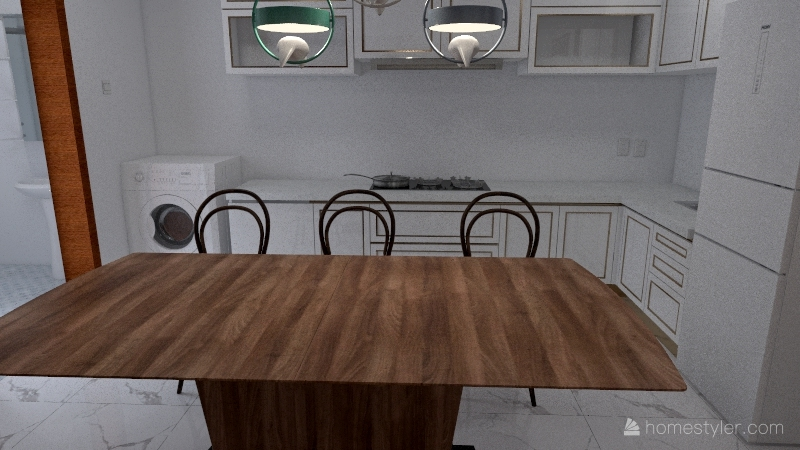 Design chuyển bếp Interior Design Render