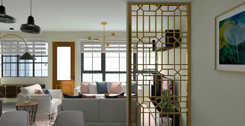 Proyecto contemporáneo con detalles industriales Interior Design Render