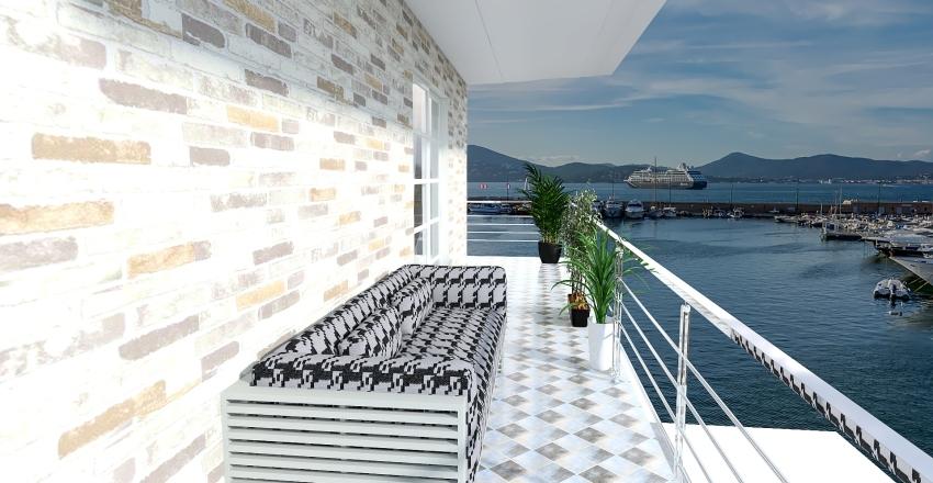 monolocale +soppalco Interior Design Render