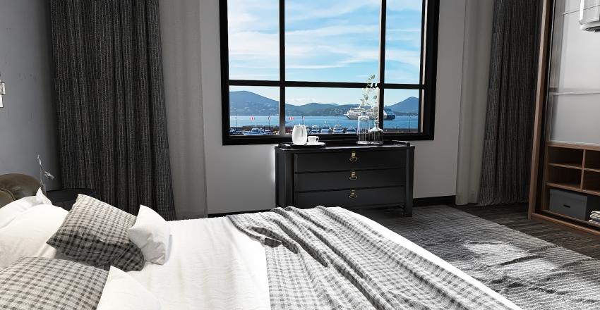 Elegant Bedroom Interior Design Render