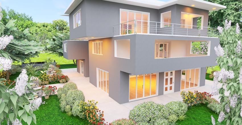 palazzina 3 piani Interior Design Render
