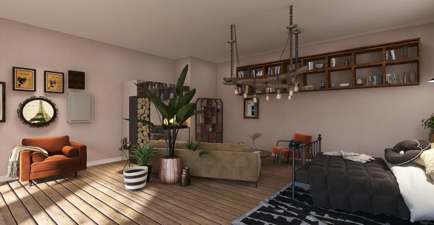 Boho studio Interior Design Render