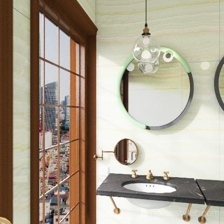 vintage apartement Interior Design Render