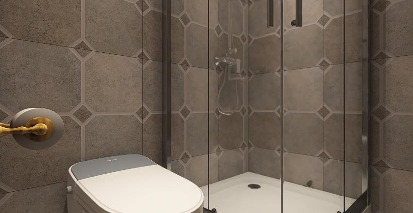 Modern Minimalist Prefab Modular Tiny House Interior Design Render