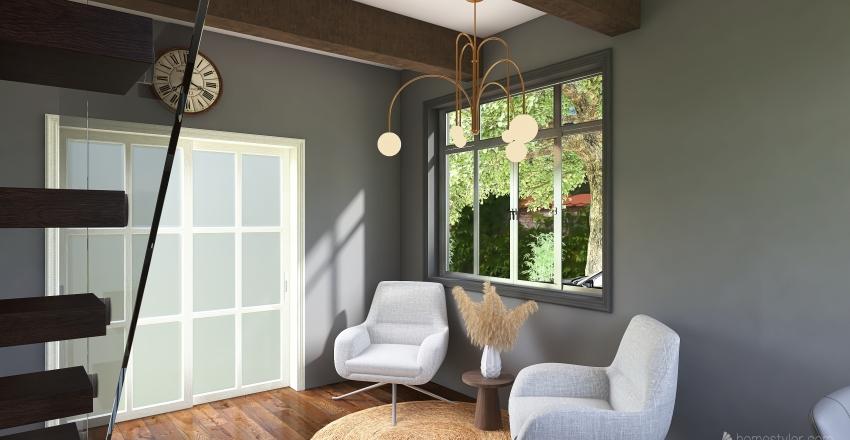 Tiny Brownstone Interior Design Render
