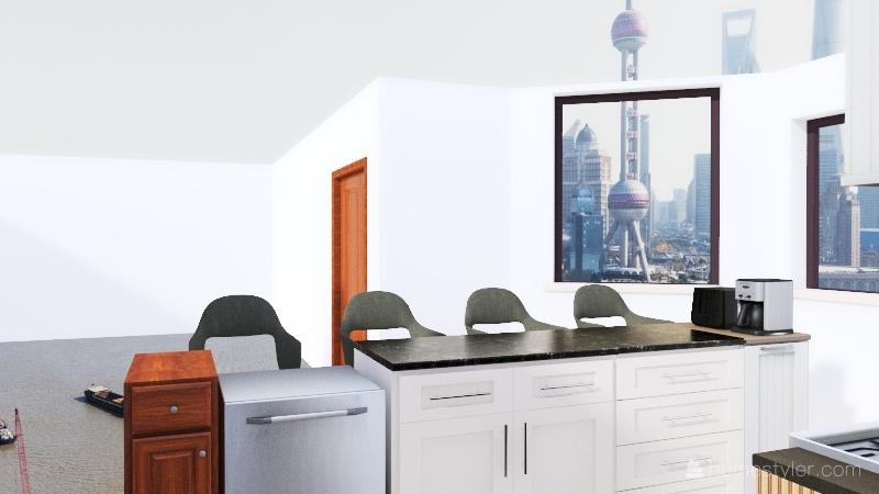Ver 2 Hamm house kitchen remodel Interior Design Render