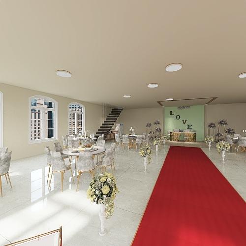 wedding hall Interior Design Render