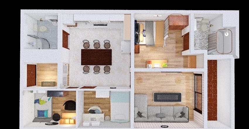 phòng ngủ mới Interior Design Render