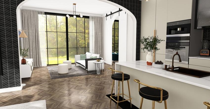 Spring House Interior Design Render