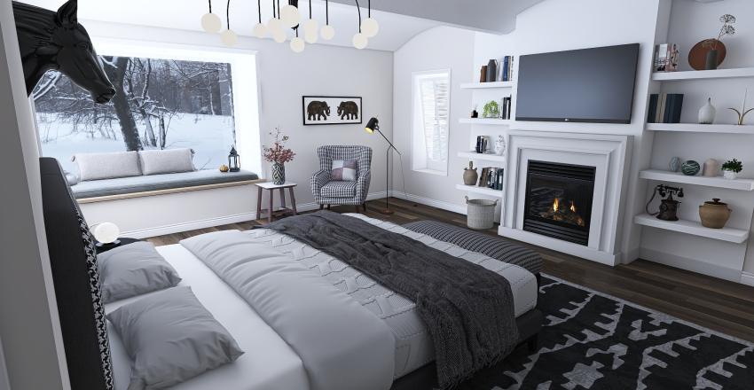 Cosy Bedroom  Interior Design Render